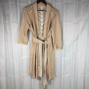 Vintage distressed boho gypsy duster coat